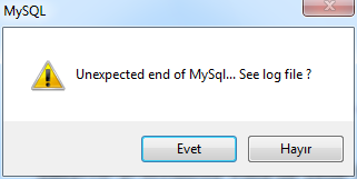 Easy Php Unexpected End Mysql Vista